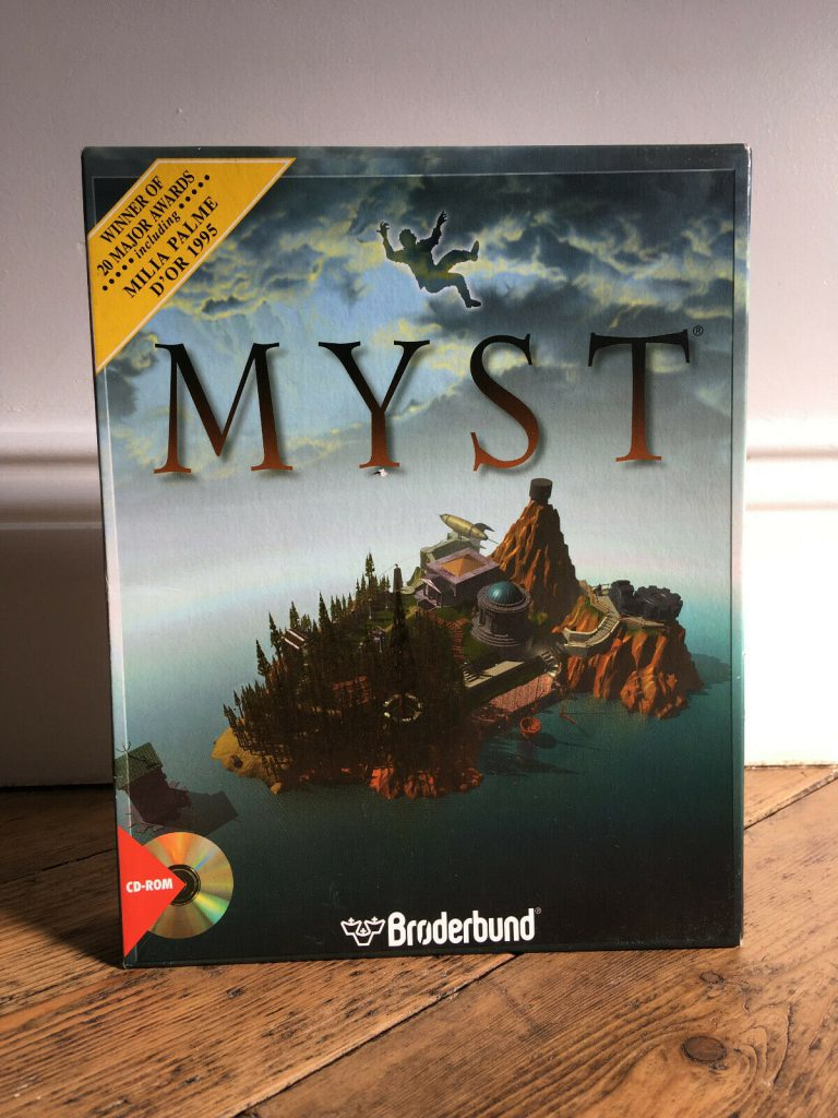 MYST original boxed CD-ROM from my childhood.